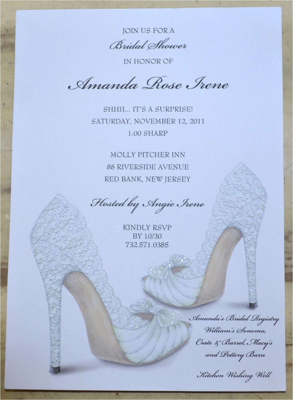 Shoe Bridal Shower Invitations Bridal Shower Invitations Shoe theme Bridal Shower Bridal