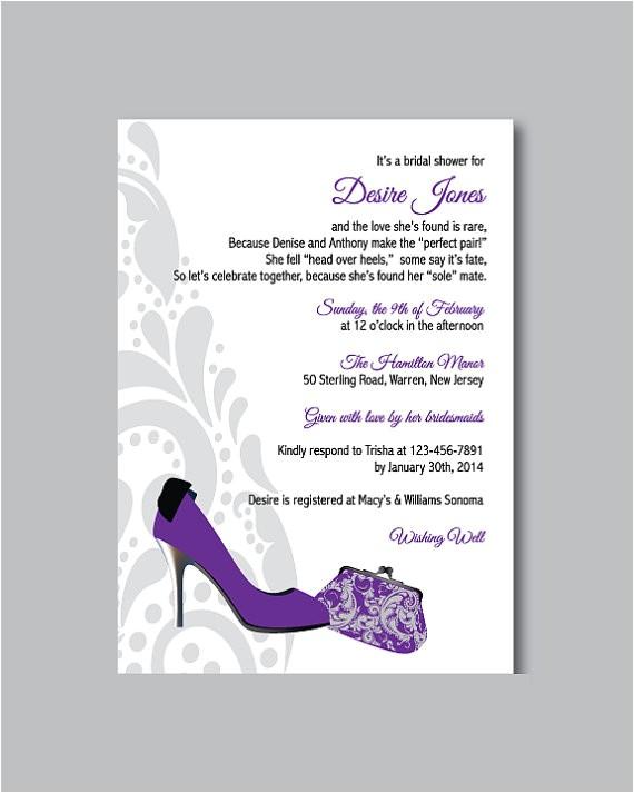 printable diy shoe theme bridal shower