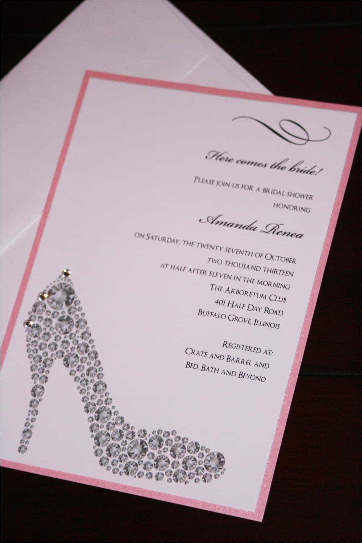 shoe bridal shower invitations