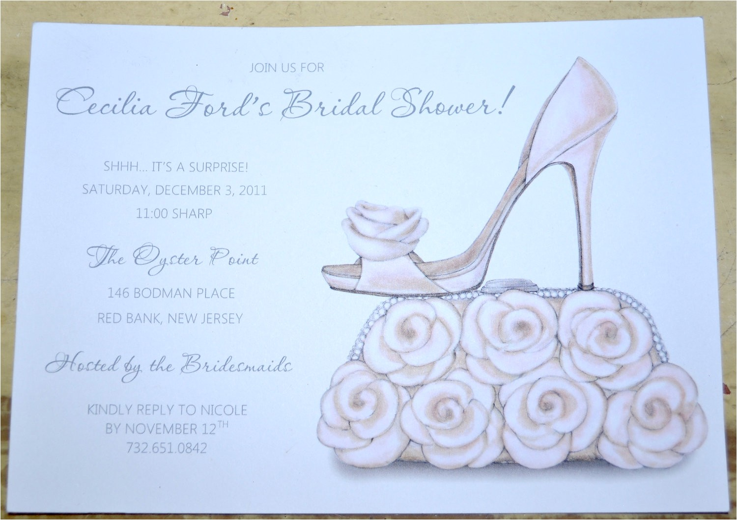 bridal shower invitations shoe theme