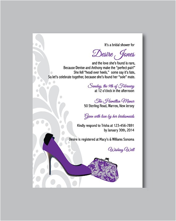 printable diy shoe theme bridal shower