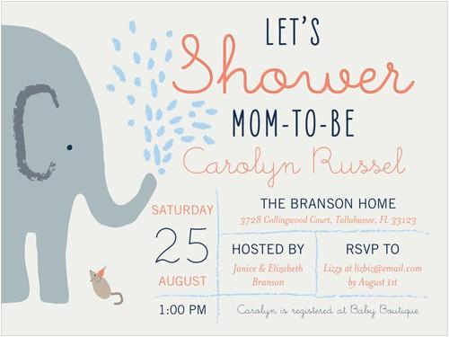 elephant shower boy baby shower invitation 4x5 flat productcode= &categorycode= &skucode=