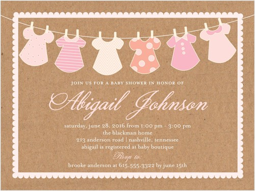 clothes line girl baby shower invitation 4x5 flat productcode= &categorycode= &skucode=