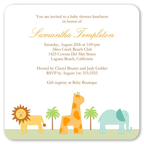 safari adventure baby shower invitation 5x5 flat productCode= &categoryCode= &skuCode=