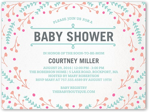 shutterfly baby shower invitations