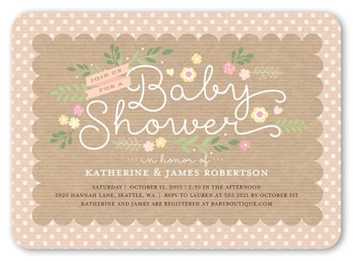 lovely scallop girl baby shower invitation 5x7 flat productCode= &categoryCode= &skuCode=