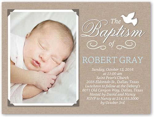 crafty dove boy baptism invitation 4x5 flat