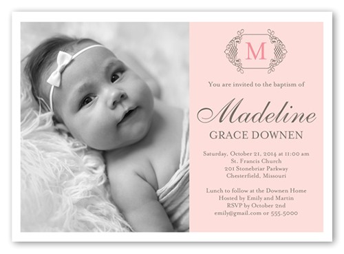 girl baptism invitations