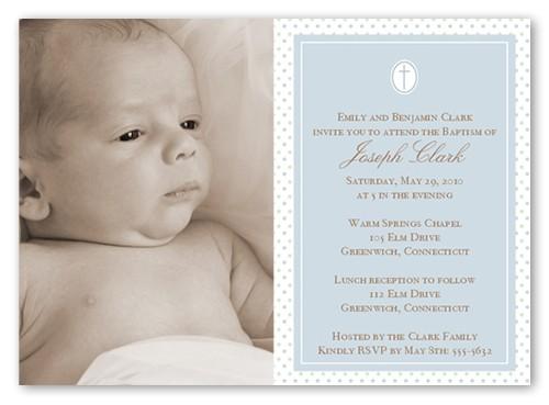 seraphic dots slate baptism invitation 5x7 flat