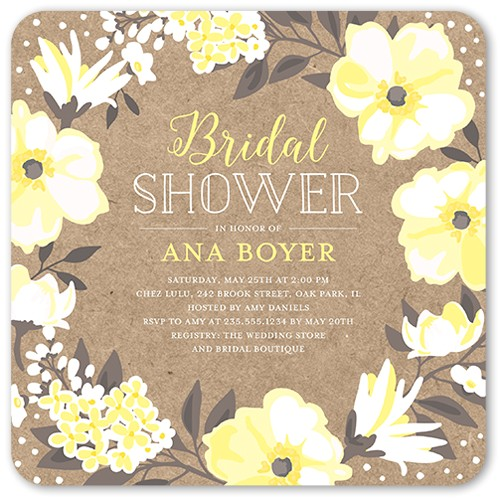 beautiful bouquet bridal shower invitation 5x5 flat productCode= &categoryCode= &skuCode=