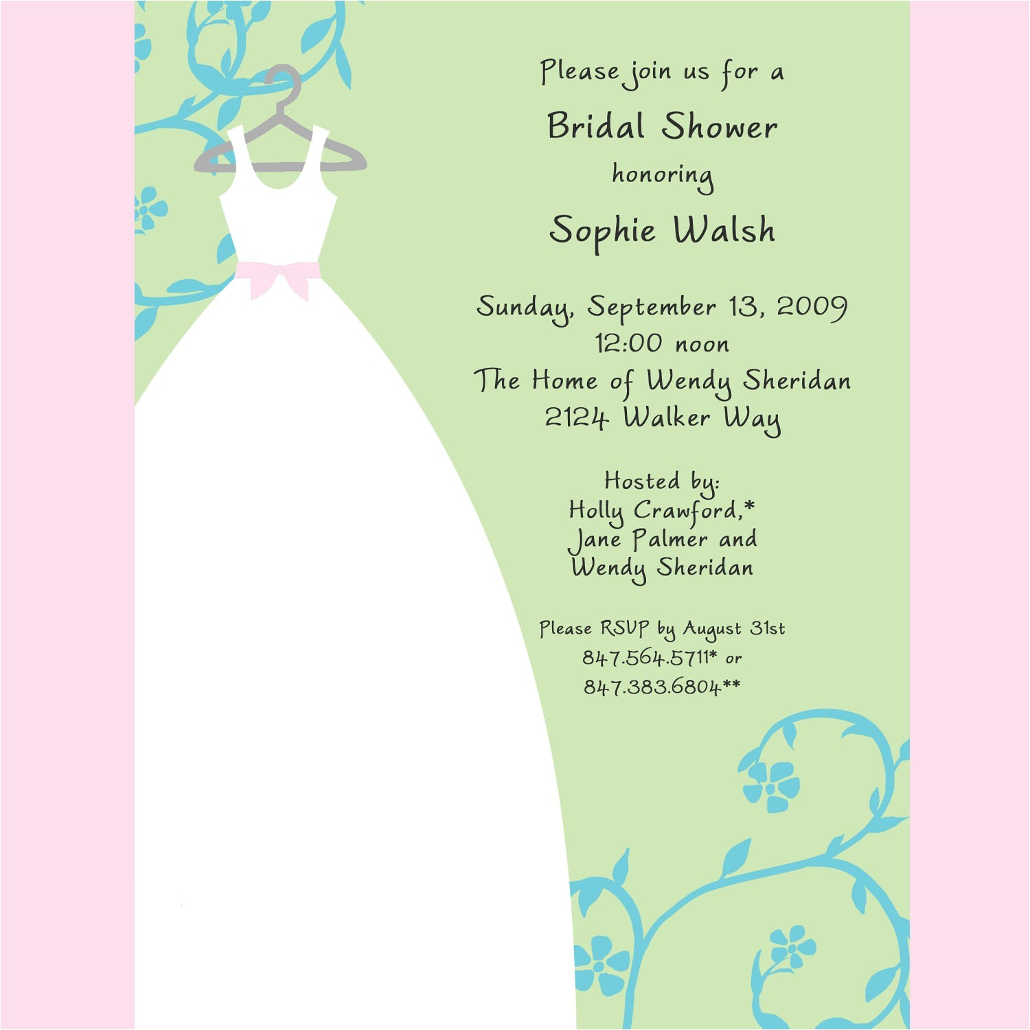 shutterfly bridal shower invitations template