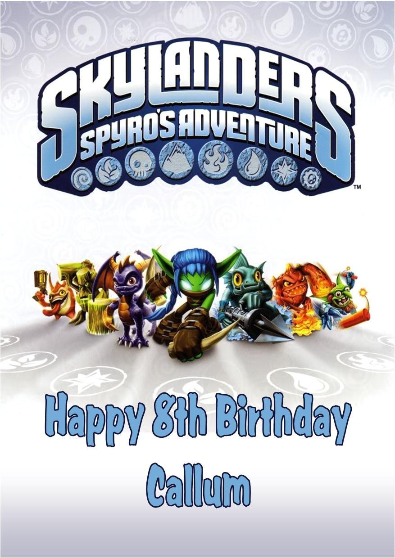 skylander birthday invitations free