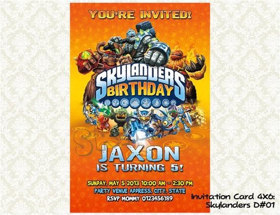 skylanders birthday invitations