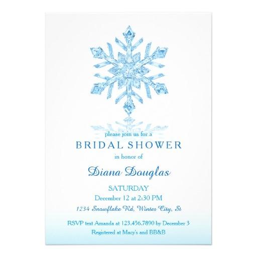 snowflake bridal shower invitations