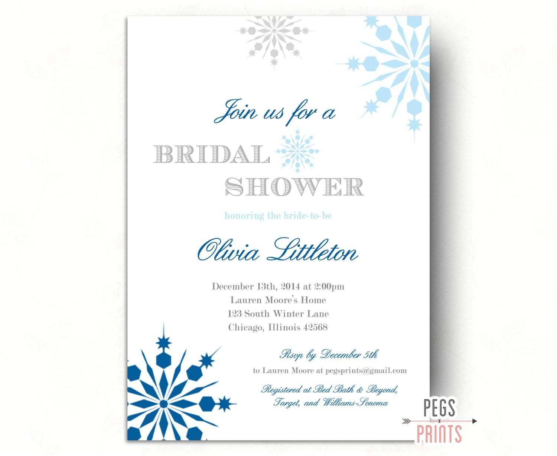 winter bridal shower invitations winter