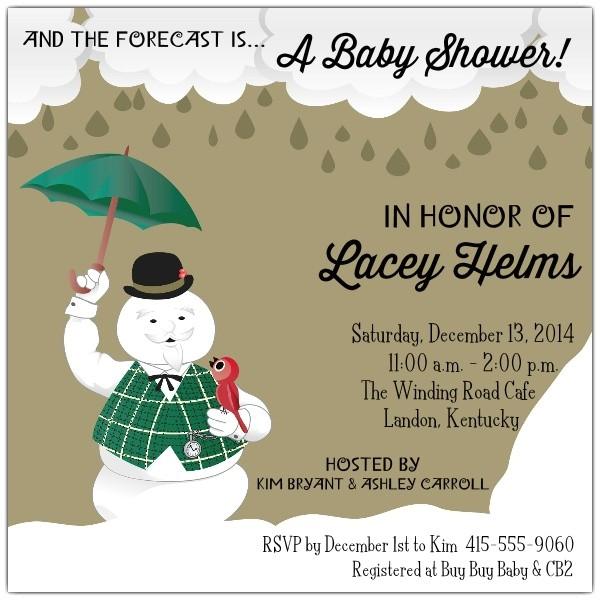 Snowman Baby Shower Invitations Sam the Snowman Baby Shower Invitations