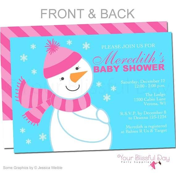 snowman baby shower invitations snowman baby