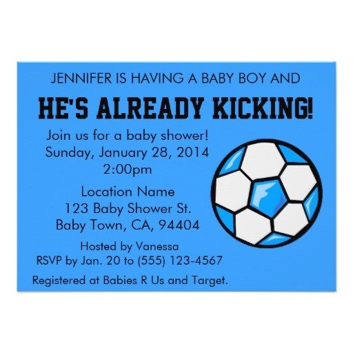 soccer baby shower invitation customizable