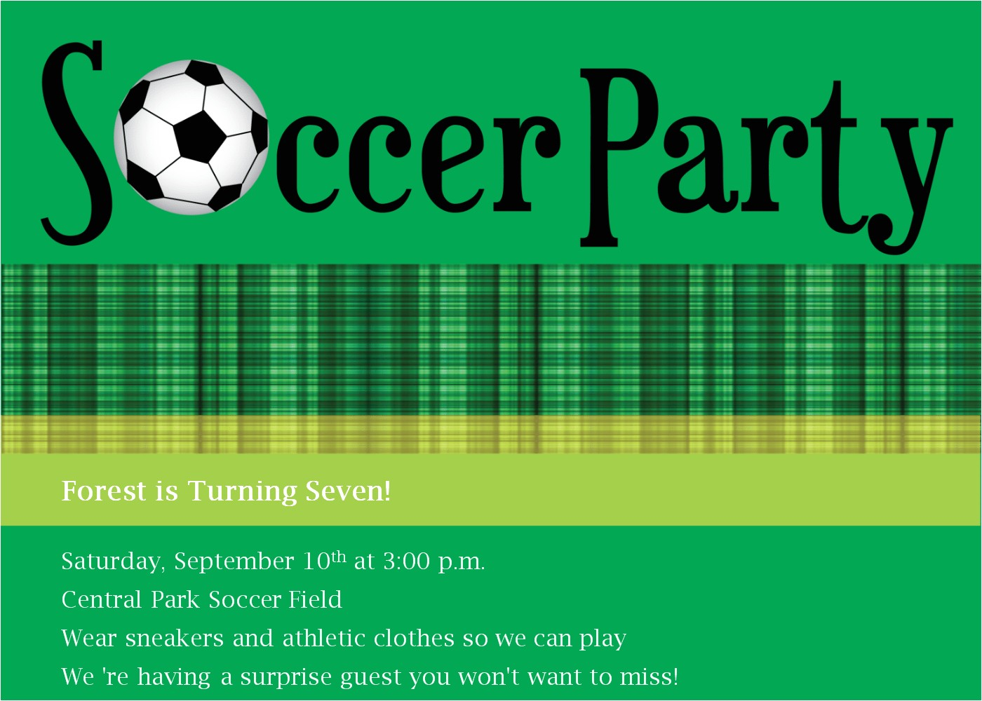 soccer birthday invitation template