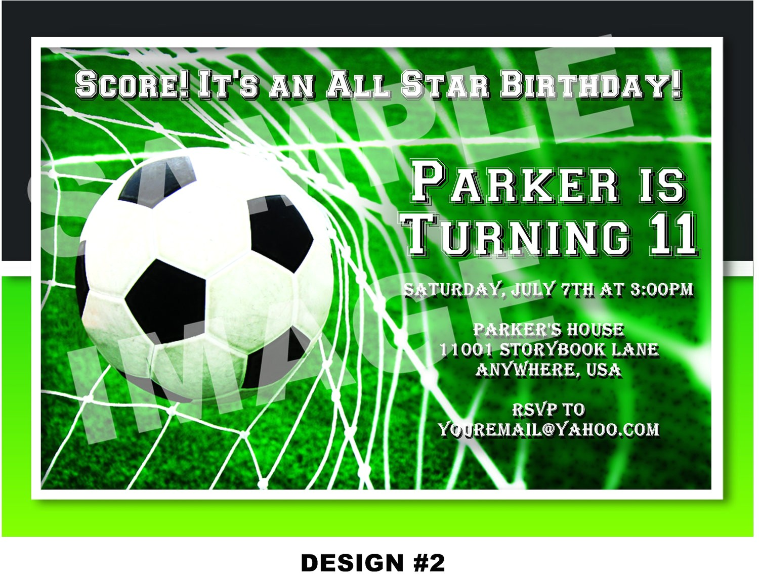 soccer party invitations template