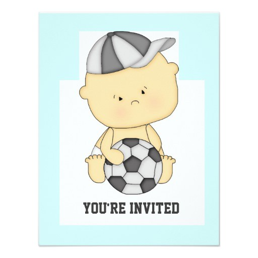 cute soccer baby shower invitation