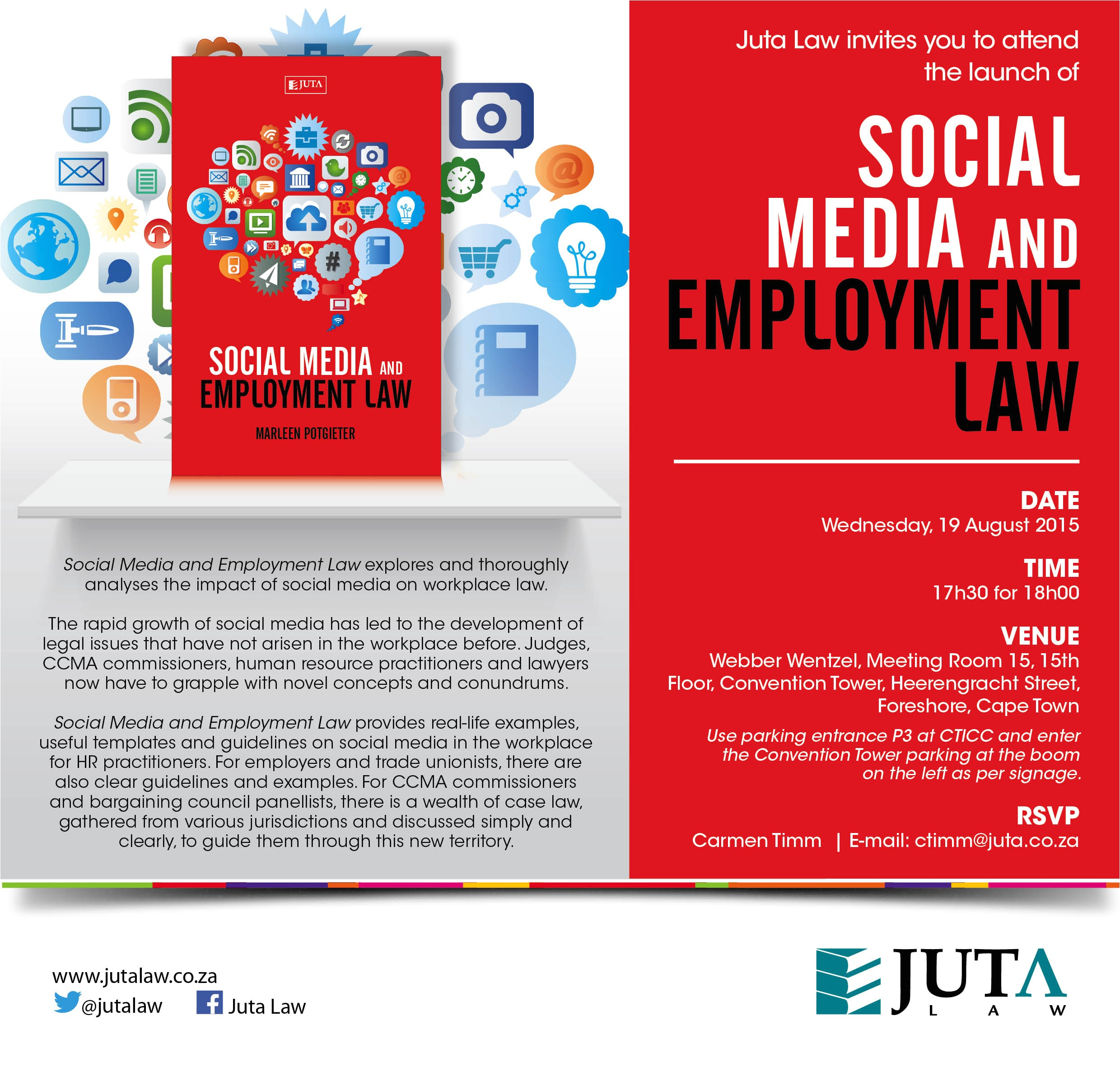 invitation to social media employment law launch