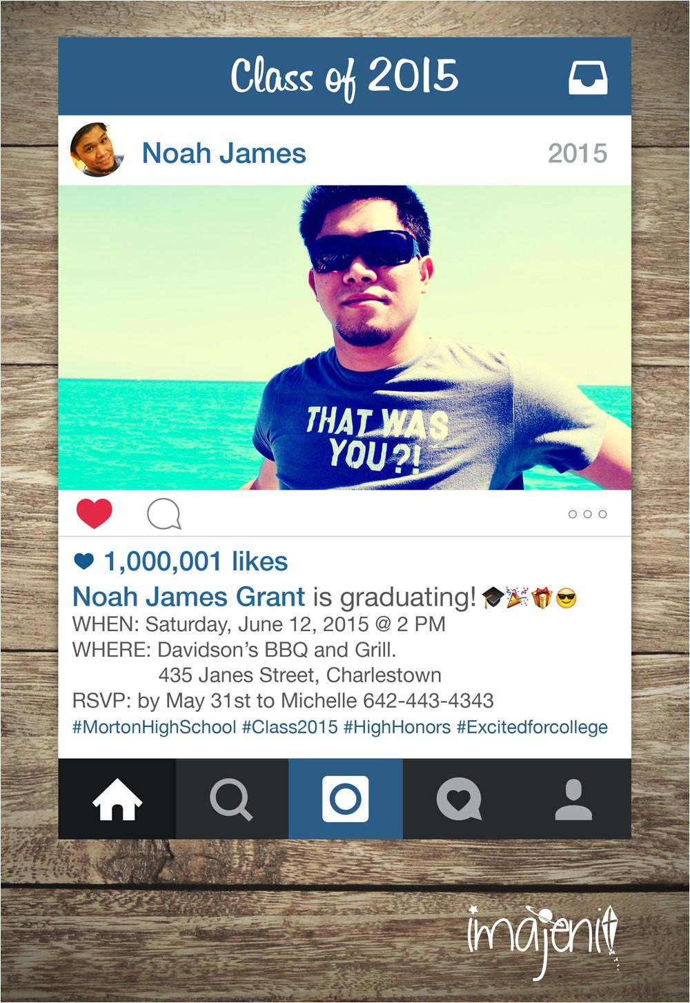 birthday instagram invitation with