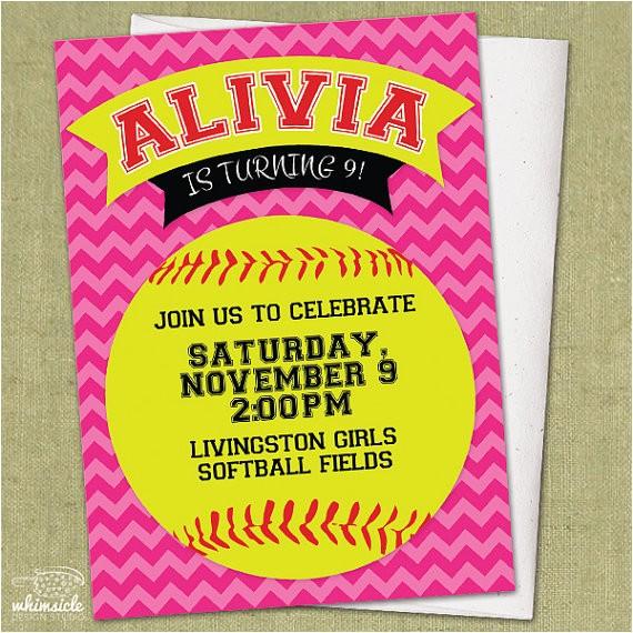 chevron softball invitation diy
