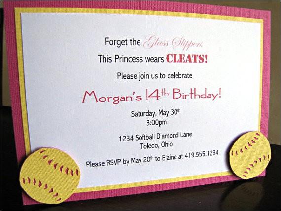 softball party invitations softball