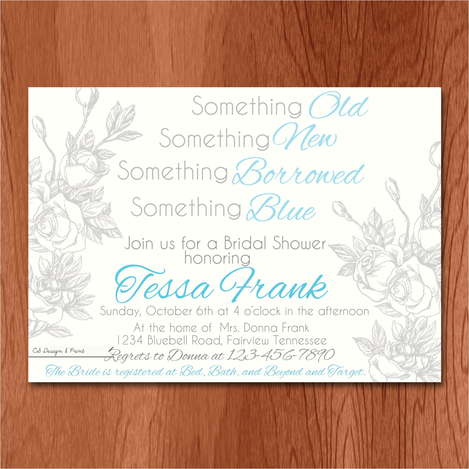 something blue bridal shower invitation ref favs view 2