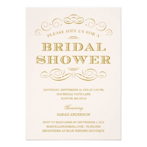 Sophisticated Bridal Shower Invitations Classy Shower Bridal Shower Invitation Zazzle