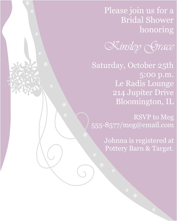 sophisticated silhouette bridal shower invitations