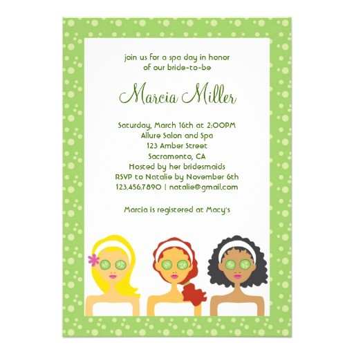 spa day bridal shower invitation 161101311633254848