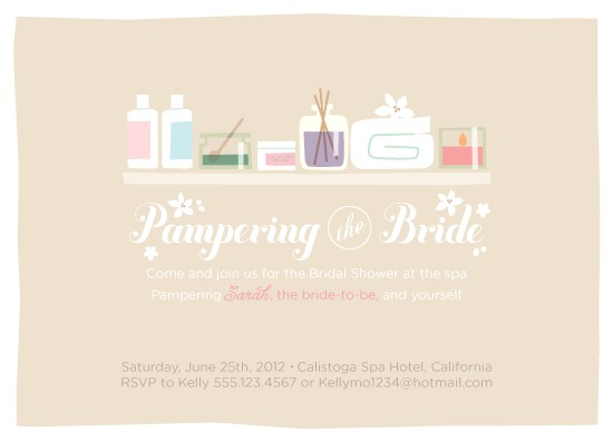 how to host a spa day bridal shower