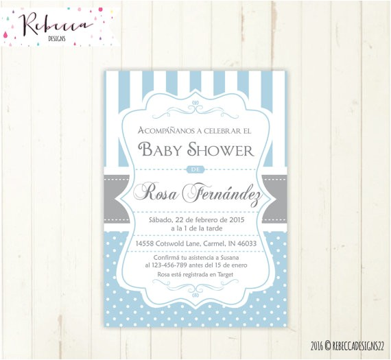 baby shower invitation in spanish boy