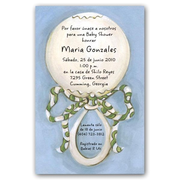 Spanish Baby Shower Invitations p 73 I SP