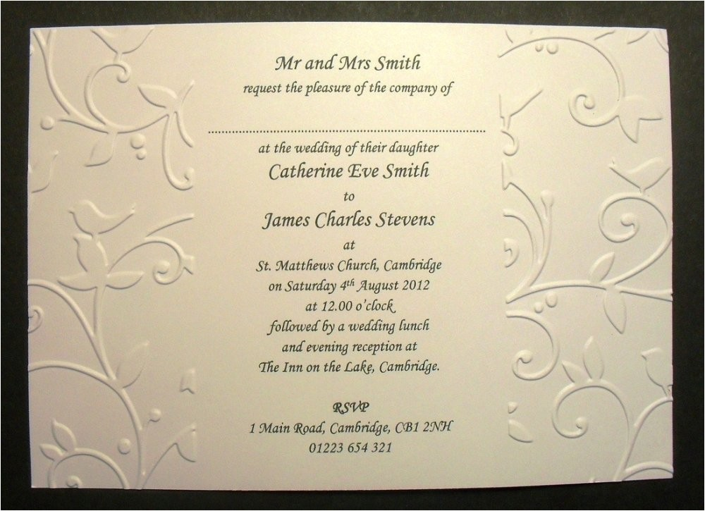 spanish wedding invitation wording samples