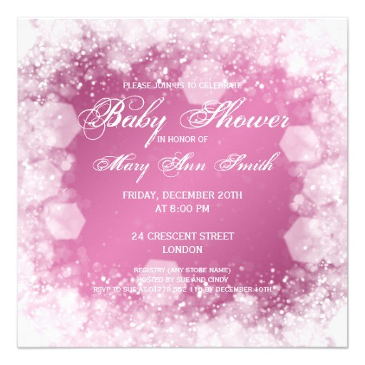 sparkle baby shower invitations