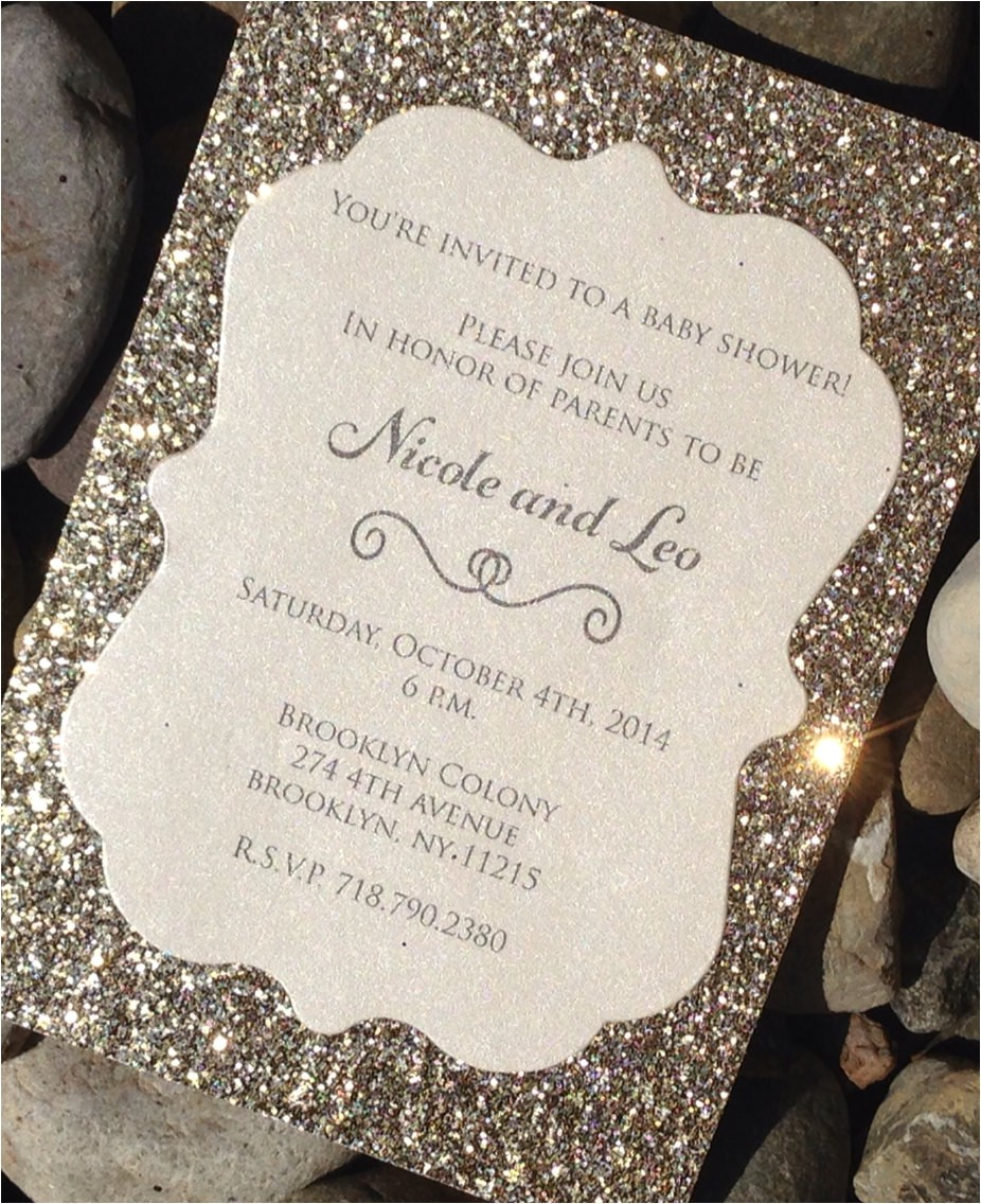 baby shower invitation 25 glitter baby