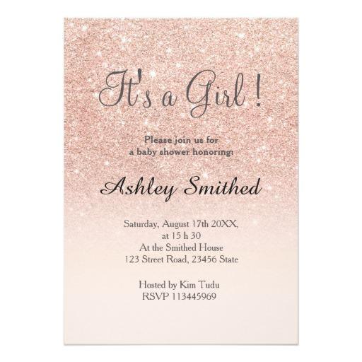glitter baby shower invitations