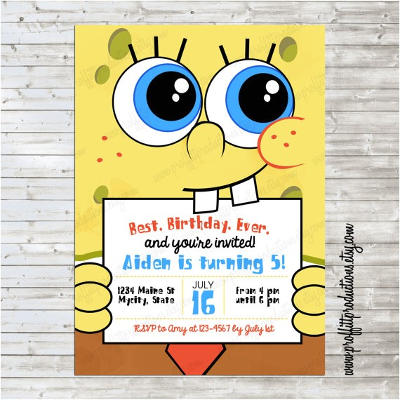 modern spongebob birthday party
