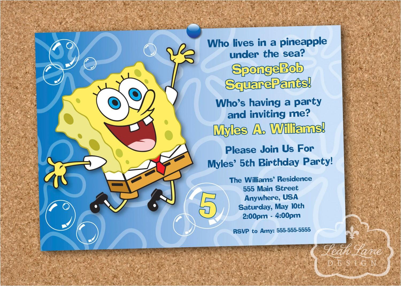spongebob squarepants birthday party
