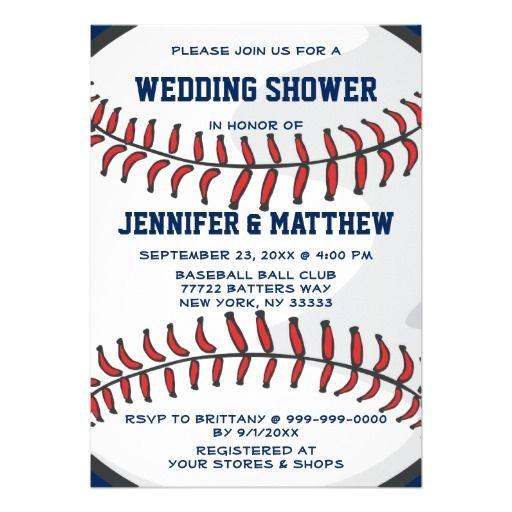 baseball wedding shower