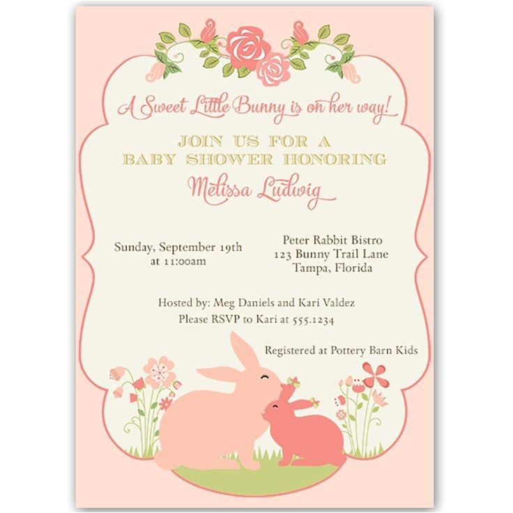 easter themed baby shower invitations
