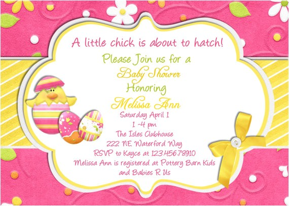 spring themed baby shower invitations