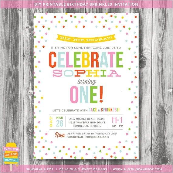 sprinkle invitations