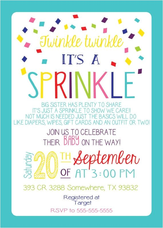 Sprinkle Birthday Invitations 25 Best Ideas About Sprinkle Invitations On Pinterest