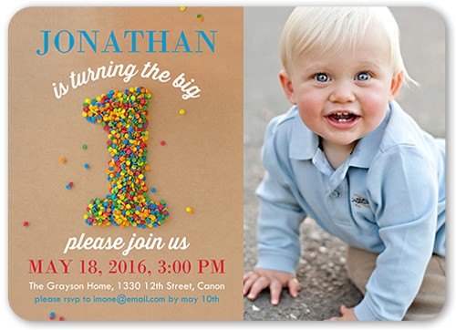 sprinkle first boy birthday invitation 5x7 flat productCode= &categoryCode= &skuCode=