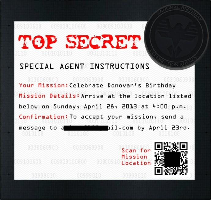 diy secret agent birthday party part 1