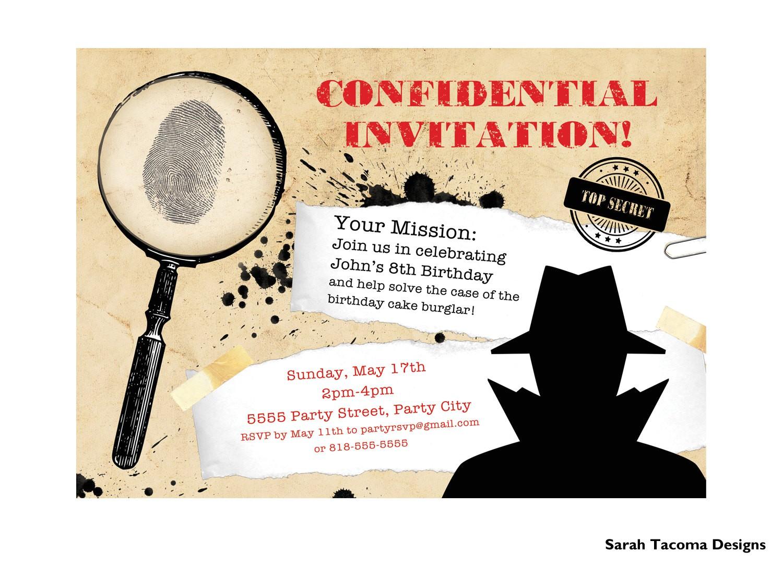 secret agent spy birthday party